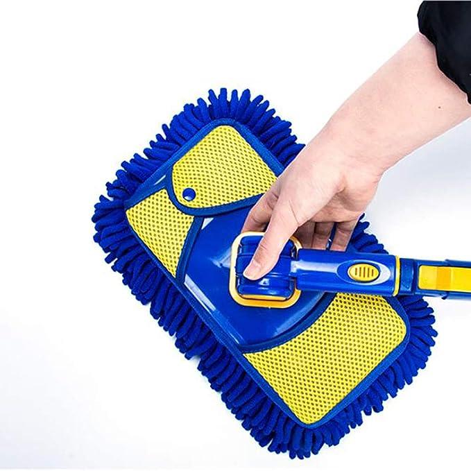 Jiner Mikrofaser Autowaschbürste Langen Griff Einziehbar Weicher Pinsel Baumwolle Multifunktion 360 Rotative Wird Autofarbe Nicht Verletzen Sport Freizeit