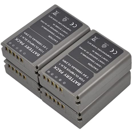 4X BLN-1 Bateria+Cargador AC Dual para Olympus BLN1 OM-D Pen ...