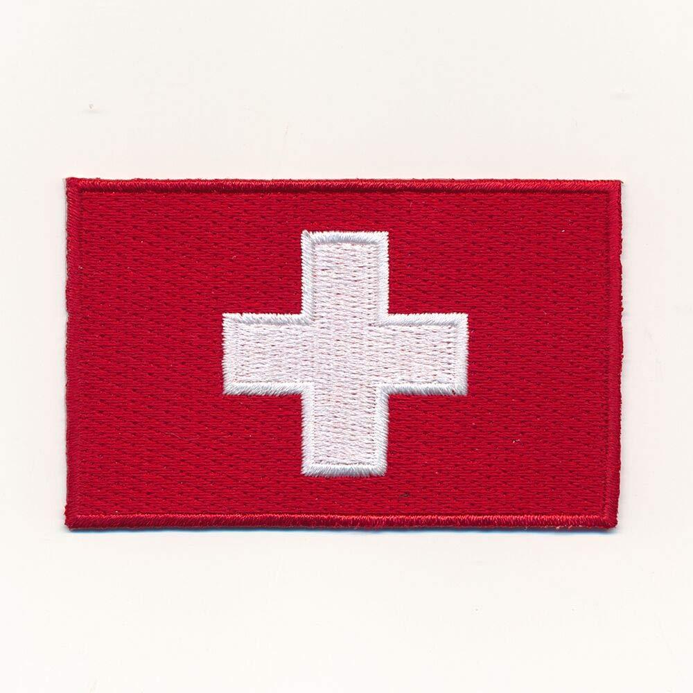 hegibaer 80 x 50 mm Schweiz Flagge Switzerland Flag CH Patch Aufn/äher Aufb/ügler 1142 X
