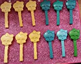 PARTY FAVORS Monster High® Accessories MISC002_SET OF 12 SKULLETTE DOLL BRUSHES; BRIGHTS