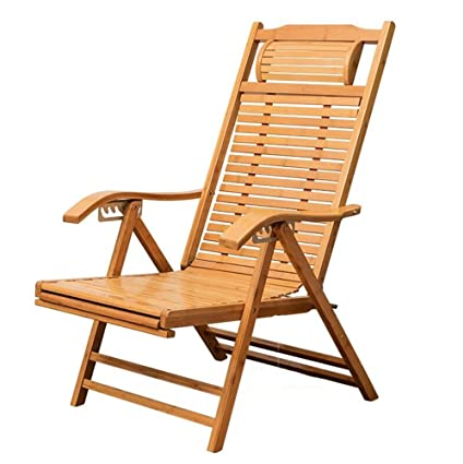 Amazon.com: Zfusshop Folding Lounge Chair Bamboo Rocking Chair, Old ...