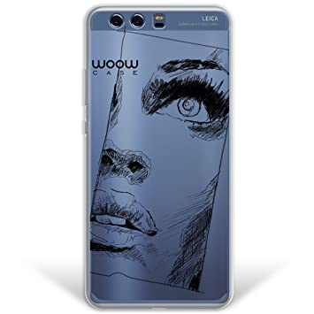 WoowCase Funda Huawei P10 Plus, [Hybrid ] Dibujo Retrato ...