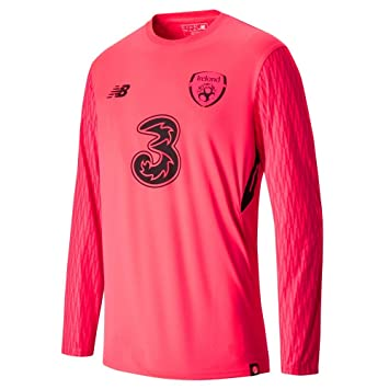f21e719d5 New Balance Men's Offical Fai Merchandise Ireland Home Goalkeeper Long  Sleeve Jersey, Bright Cherry,