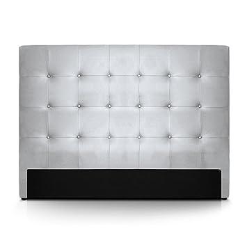INTENSEDECO Tête de lit capitonnée Premium 160cm Argent: Amazon.fr ...