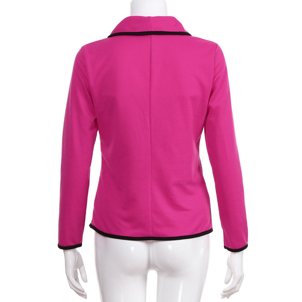 Damen Strickjacken Cardigan Elegant Blazer Leicht Bolero Offene Blazer Business Anzug mit Taschen Tailliert Kurzjacke B/üro Outwear von Innerternet
