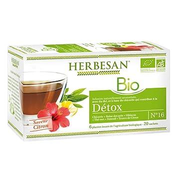 Herbesan Infusion Bio Détox 20 Bolsas: Amazon.es: Salud y ...