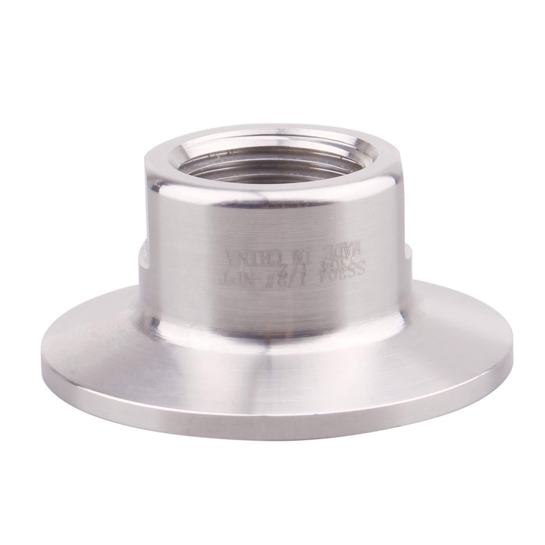 Sanitary tri clamp 1.5 inch to NPT Female Thread Adaptor SS304 tri Clover Pipe Fitting(Thread Size:1/2 NPT)