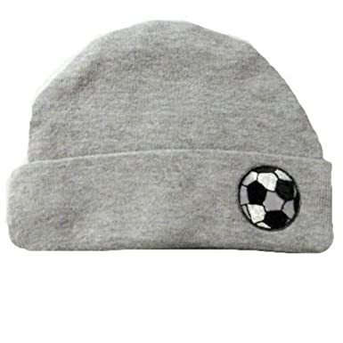 dca997f6b42 Amazon.com  Jacqui s Baby Boys  Heather Gray Hat with Soccer Ball ...
