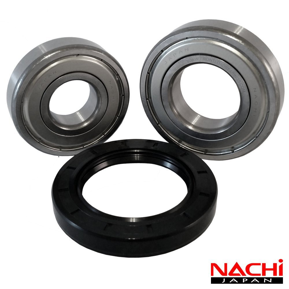 Nachi Front Load Whirlpool Washer Tub Bearing and Seal Kit Fits Tub W10290562 (5 year replacement warranty and full HD ''How To'' video included)