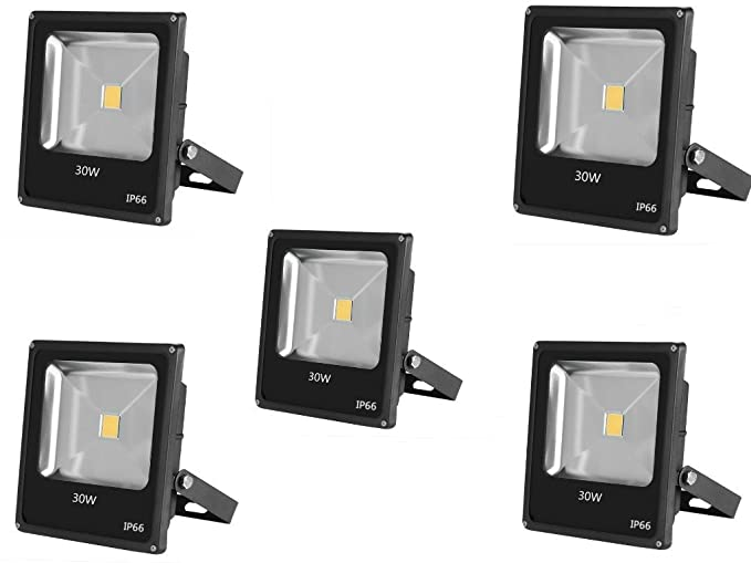5 x 30 W Foco Proyector LED 30 W super luminoso blanco cálido ...
