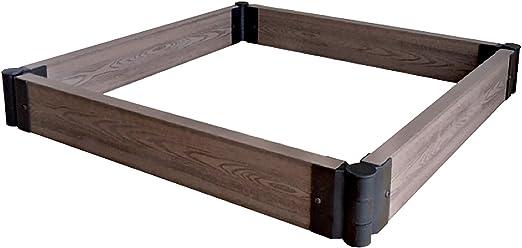 Tenax - WPC Flower Bed - Bordura modular decorativa de WPC (compuesto de madera y plástico) para jardín: Amazon.es: Jardín