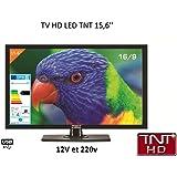 Télévision TV HD LED 39,6 CM pour camping car 220v/12v/24v