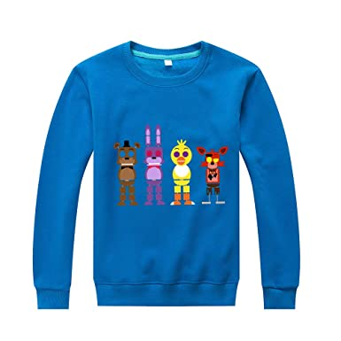 Haililais Five Nights at FreddyS Sudaderas Estampados Suéter Otoño Invierno Jerseys Cuello Redondo Casuales Camisetas de