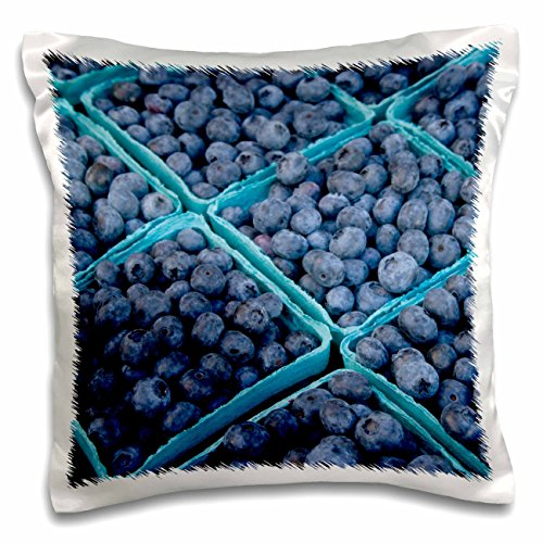 Danita Delimont - Markets - Oregon, Portland, Farmers market blueberries - US38 AJN0023 - Alison Jones - 16x16 inch Pillow Case (pc_93402_1)