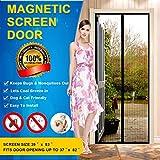Magnetic Screen Door Mesh Curtain - Fits Doors Up To 37