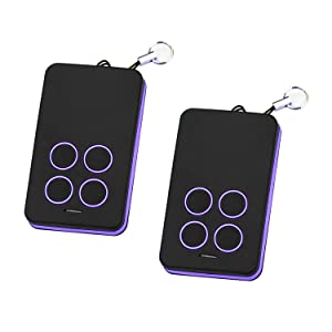 Refoss Garage Door Remote Control, Purple Learn Button Compatible with Chamberlain 950D 953D 956D, LiftMaster 370LM 371LM 372LM 373LM, Craftsman 139.53753 Remote Security+ 315MHz (2 Pack)