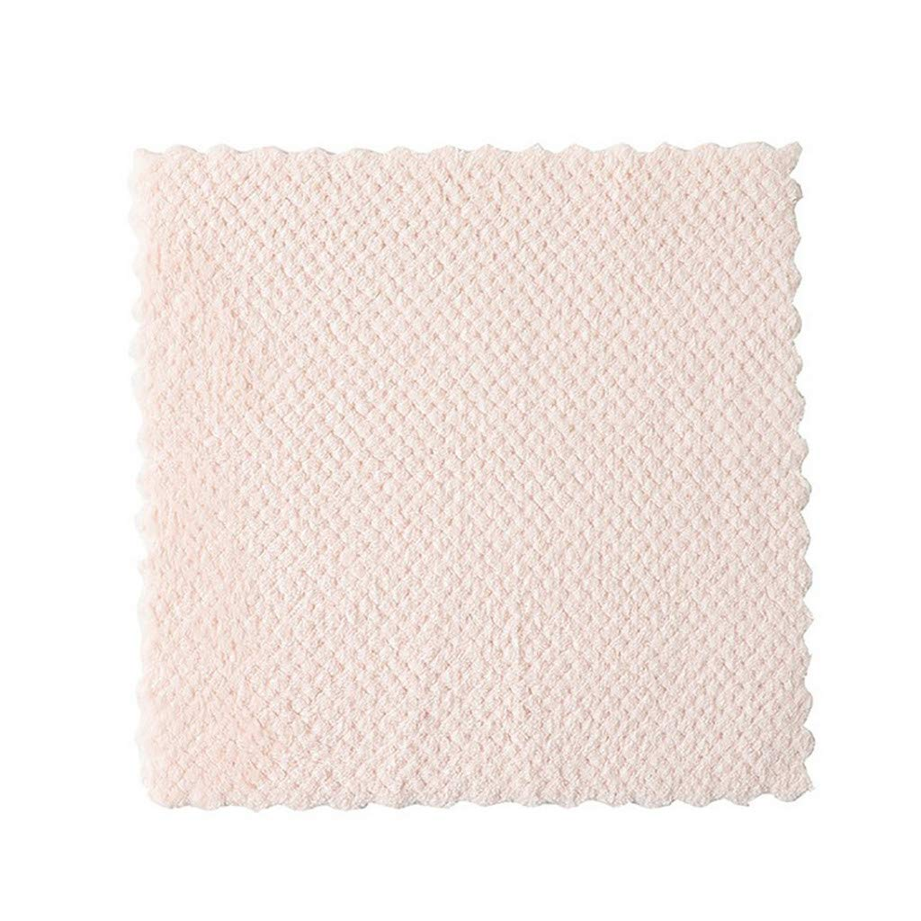 Hot!Ninasill Oil-Free Kitchen Dishcloth Absorbent Cleaning rag Solid Color Kitchen Cleaning Tool Hand Towel