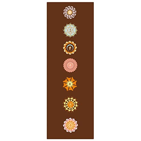 Amazon.com : Nrpfell 5 Mm Lotus Pattern Suede TPE Yoga Mat ...