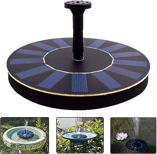 Latitop Fuente De Agua Solar, 1.4W Bomba De Agua Solar Fuente De Jardin Para Pájaros Con 4 Rociador Diferente, Filtro De Baño Al Aire Libre Para Pájaros, Patio Jardín Decoración: Amazon.es: Jardín