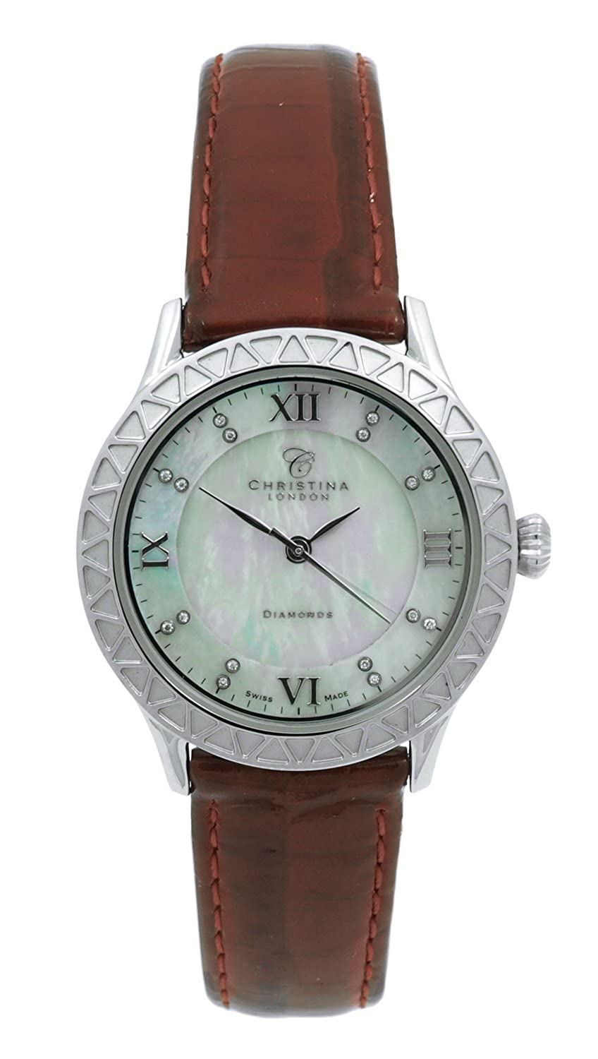 Christina London Damen-Armbanduhr Analog Quarz Leder 134SWBR