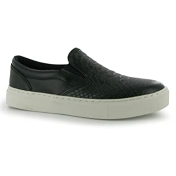 Firetrap Crux Slip On Casual Shoes Womens Black (UK5) (EU38)