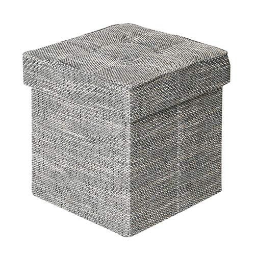Seville Classics WEB596 Tweed Foldable Tufted Storage Ottoma