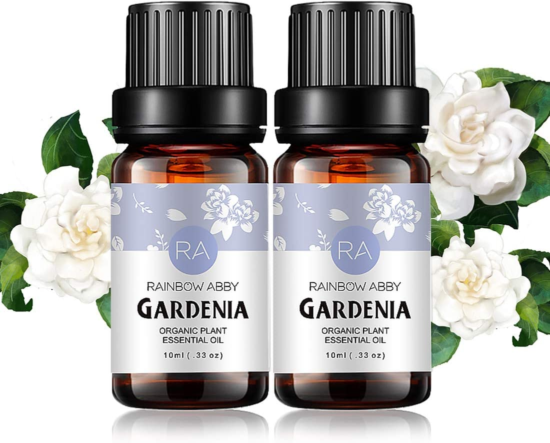 2-Pack Gardenia Essential Oil 100% Pure Oganic Plant Natrual Flower Essential Oil for Diffuser Message Skin Care Sleep - 10ML