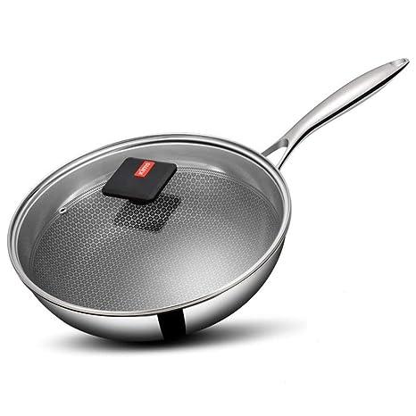 DUDDP Batería de Cocina Sartén Cacerola 304 Sartén de Acero ...