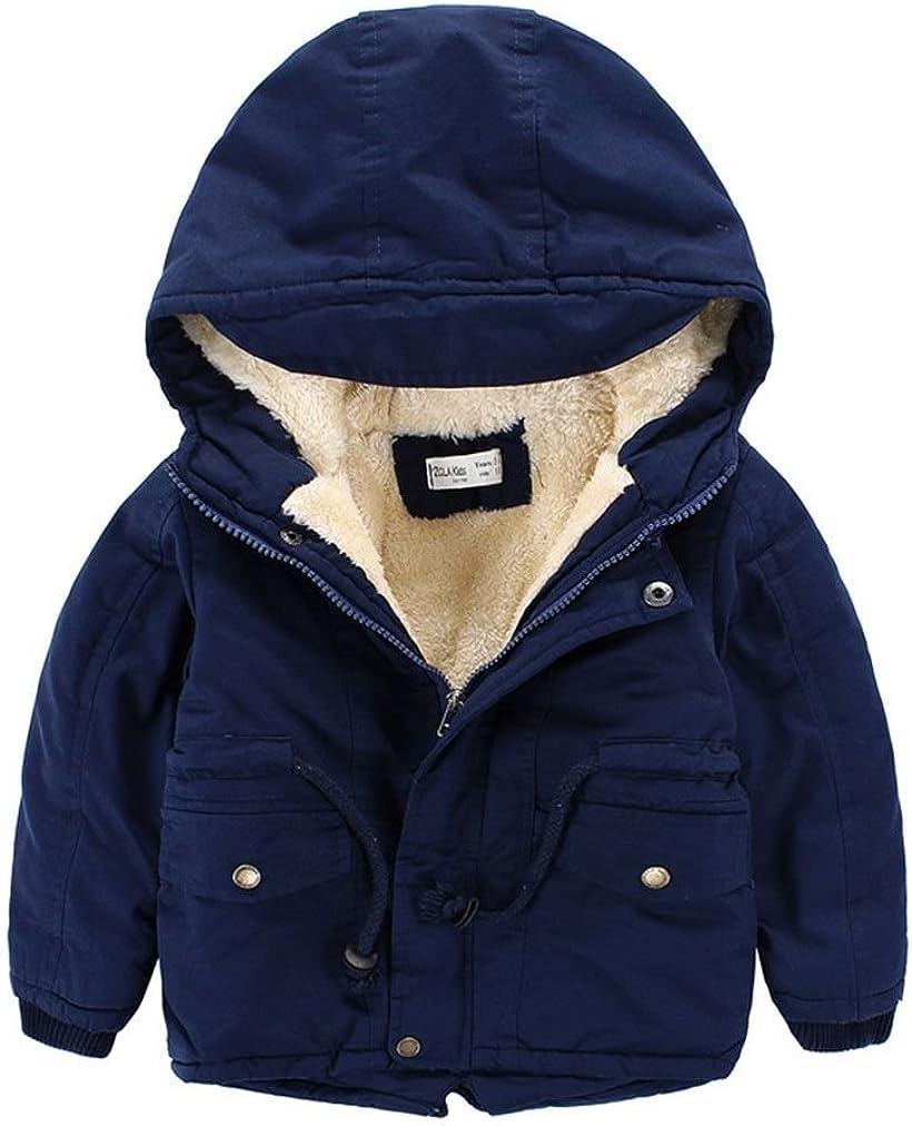 ZIYOYOR Baby Boys Winter Fleece Jacket Gown Kids Hooded Coat Parkas