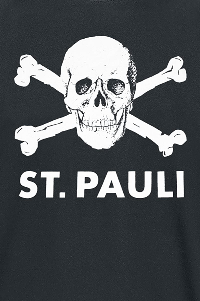 FC St. Pauli Skull Camiseta Negro: Amazon.es: Ropa y accesorios