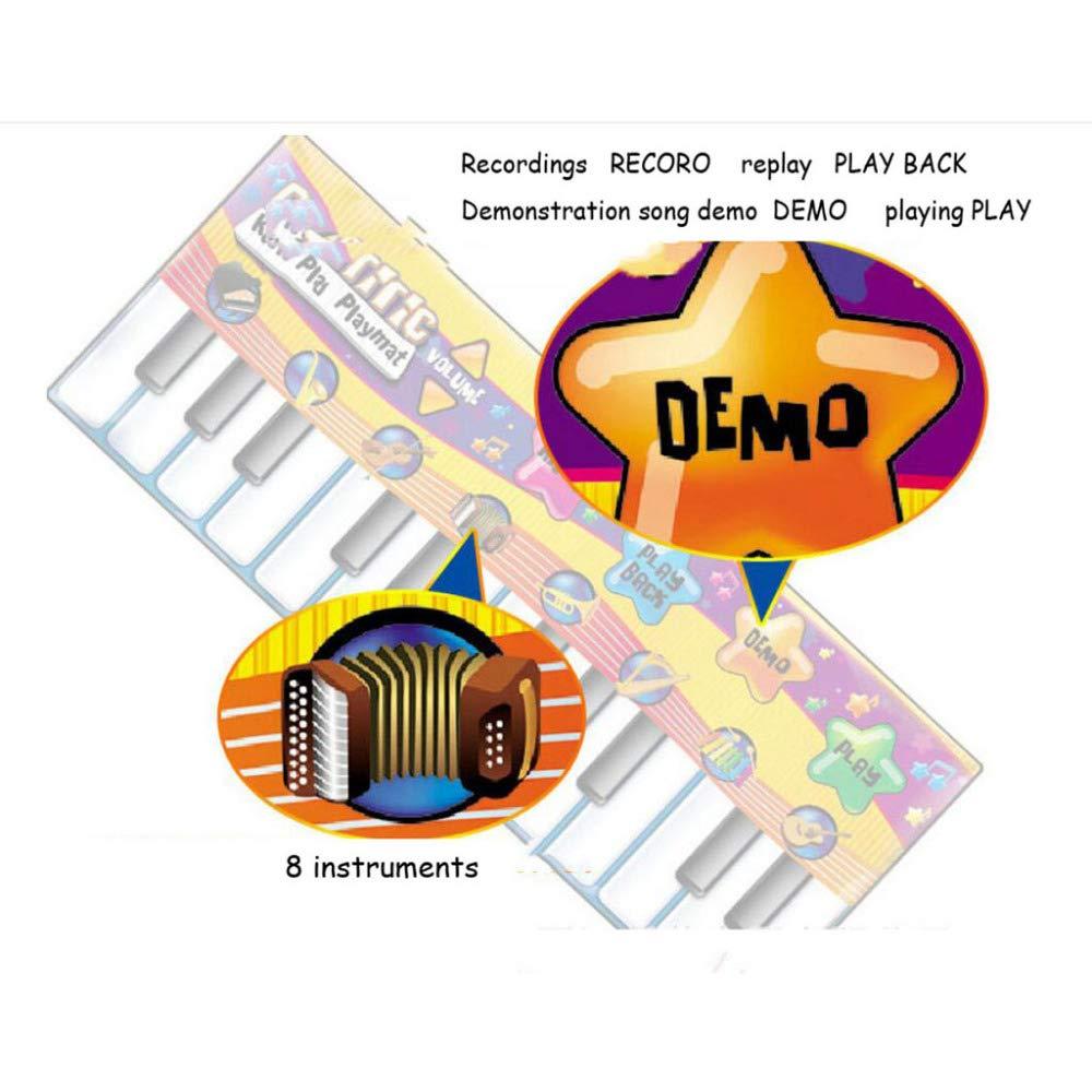QXMEI Children's Piano Dance Mat Baby Carpet Puzzle Dance Mat 180CM by QXMEI (Image #3)