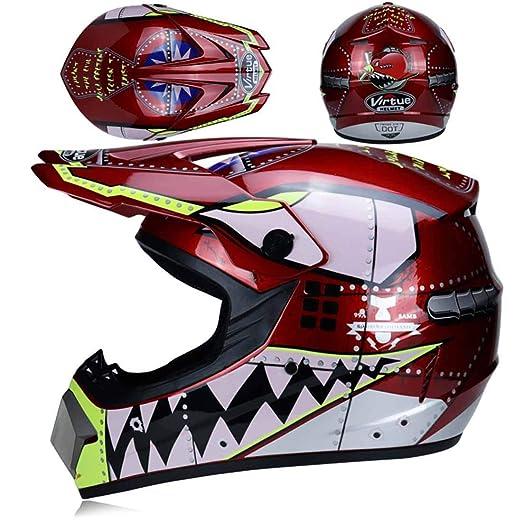 Gwant Casco de Motocross para Hombre - 3 Cascos de Regalo ...