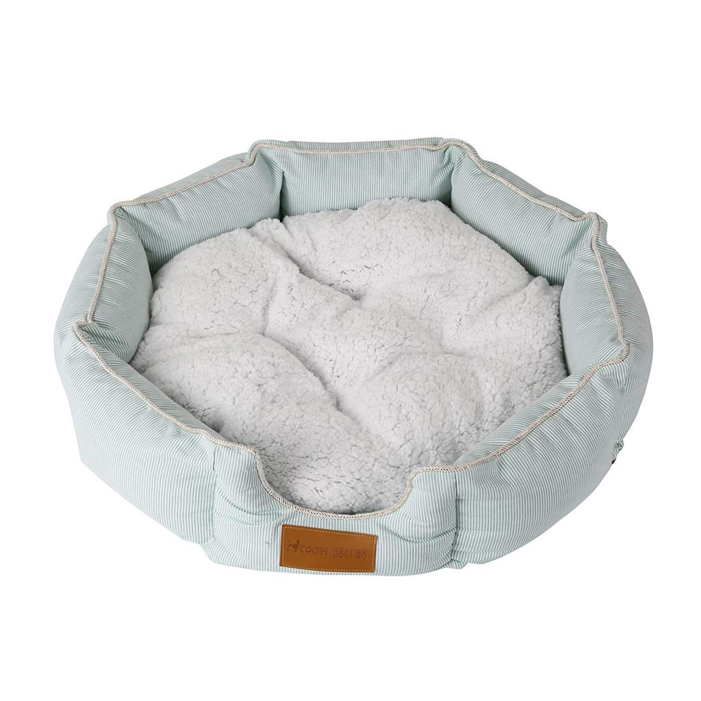 Small Round Octagonal Super Soft Pet Bed, Cat and Dog, Bite Resistant, Removable and Washable, Suitable for Small and Medium Pets (Size   S)