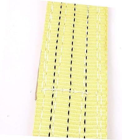 X-Dr 1 Meter 75mm Width Eye to Eye Nylon Web Lifting Tow Strap Yellow 9c9f6480ef096dc1d9012ef96dc0fad2