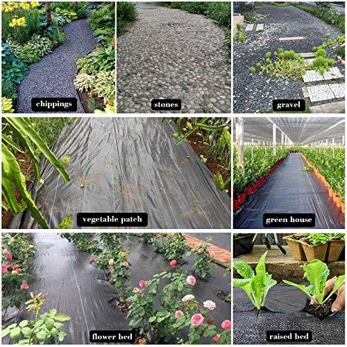BeGrit Toiles de Paillage Biodegradable Tissée Toile Anti-Mauvaises Herbes 1,5M X 10M Paillis Sol Jardin Allée Paysage Tissu