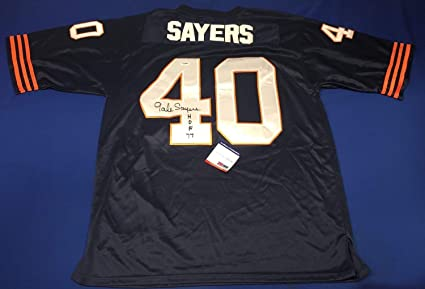 best service a4735 70f92 Gale Sayers Autographed Signed Chicago Bears Mitchell & Ness ...