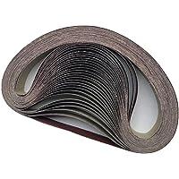 """WHKKLN 10 piezas Correas de lijado abrasivo de 50x1220 mm 2""""* 48"""" P40-1000 Accesorios de amoladora de banda de molienda…"""