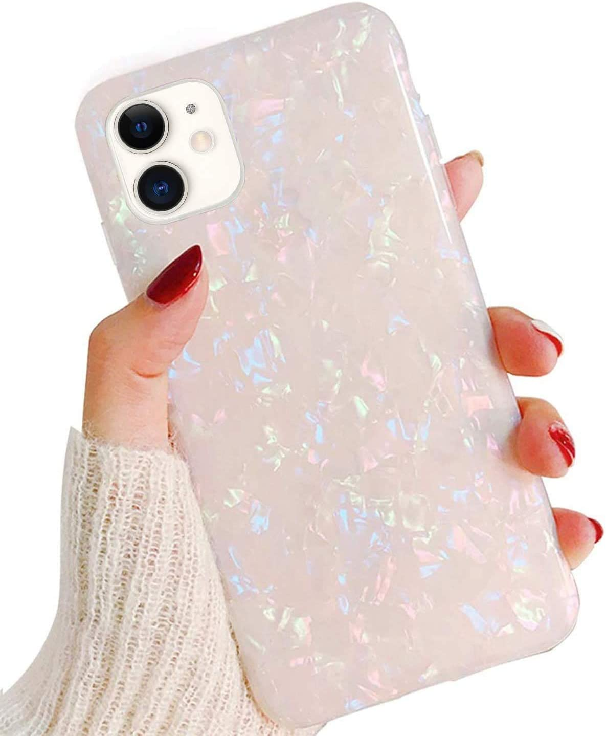 "Hapitek Compatible with iPhone 12 Case Marble Case for iPhone 12 Pro for Girls Women Slim Soft Flexible TPU Protective Cover for iPhone 12/12 Pro 6.1"" 2020"