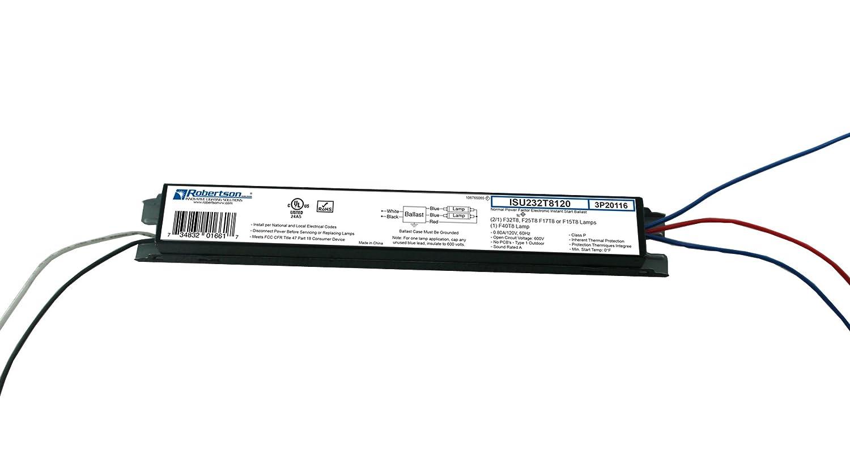 ROBERTSON 3P20116 eBallast, Instant Start, NPF, 1 or 2 Lamp F32T8, 120Vac, 60 Hz, Model ISU232T8120 BA (Replaces Robertson 3P20003, Model ISU232T8120 /B)