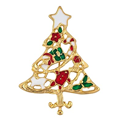 Christmas Brooches And Pins.Uniqueen Christmas Tree Brooches Xmas Brooch Pin For Women