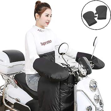 ATV Scooter Motorcycle Snowmobile Handlebar Mitts Handguard Gauntlets Black