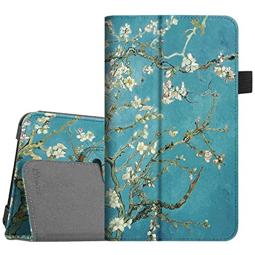 Fintie Folio Case for Samsung Galaxy Tab A 7.0 - Premium Vegan Leather Slim Fit Folio Stand Cover for Samsung Galaxy Tab A 7.0 Tablet 2016 Release (SM-T280/SM-T285), Blossom