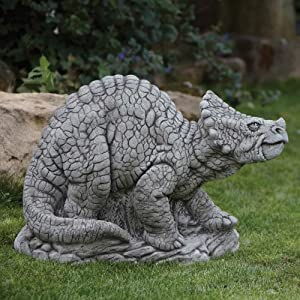Exceptional Large Garden Ornaments   Triceratops Dinosaur Statue