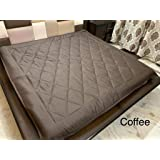 "Ab Home Decor Waterproof Dustproof Microfiber Cotton Mattress Protector for King Size Bed (Brown, 72"" x 78"")"