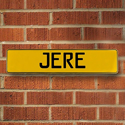 Vintage Parts 685734 Wall Art (Yellow Stamped Aluminum Street Sign Mancave Jere)