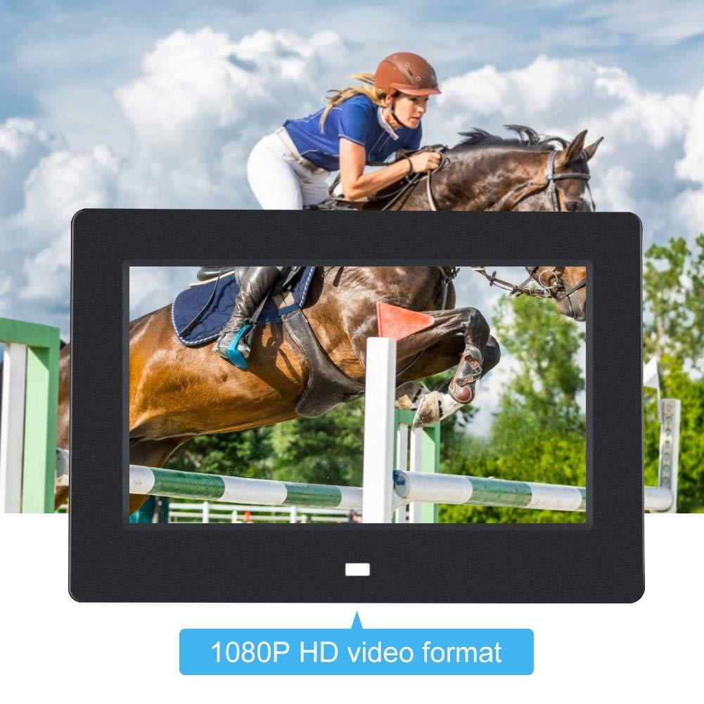 MP3//Calendar//Clock UK-White Neufday 7 inch Digital Photo Frame HD LED Picture Videos Frame with Motion Sensor