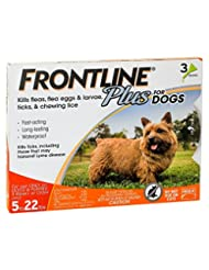 Frontline Plus Flea and Tick Control for Dogs and Puppies 8 w...