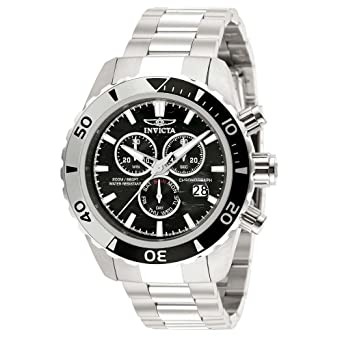 Invicta watch 12443 Invicta Pro Diver- SS Chrono ISA - With Sea Hunter Logo Dial
