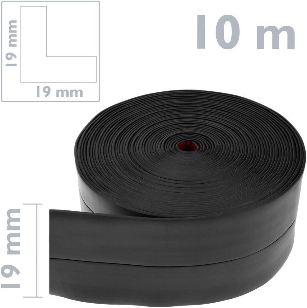 Rodapi/é Flexible Autoadhesivo 19 x 19 mm Longitud 10 m Negro PrimeMatik