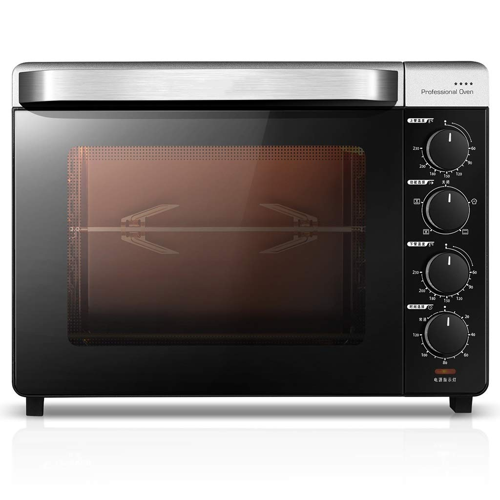 Countertop Convection Toaster Oven Italian Imported Enamel Material 32QT - Unlimited Time Work Design, 1600W Kitchen Barbecue Cake Oven, Explosion-proof, Ferment, Thaw, 6 Tools